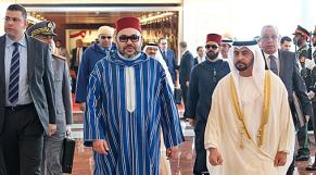 roi Mohammed VI  Cheikh Hamdane Ben Zayed Al-Nahyane abu dhabi