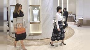 Melania Trump découvre les perles japonaises