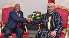Le roi Mohammed VI et Jacob Zuma
