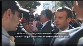"""Vidéo. Macron à un Algérien: """"Pourquoi vous m'embrouillez avec la colonisation?"""""""