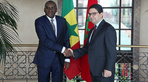 Nasser Bourita et Sidiki Kaba