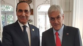 Habib El Maki et le nouveau président du Chili Sebastien Piñera