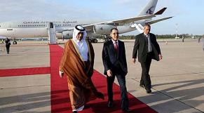 Abdallah ben Nasser ben Khalifa Al Thani avec Saâd-Eddine El Othmani