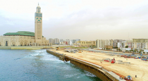 chantier de la promenade de la mosquée hassan II