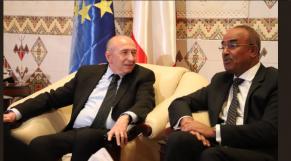 Gérard Colon et Noureddine Bedioui, les deux ministres de l'Intérieur français et algérien.