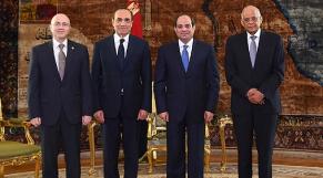 Abdel Fattah Al-Sissi et Habib El Malki
