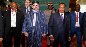 Le roi Mohammed VI et le président de la République du Congo, Denis Sassou N'Guesso