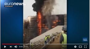 incendie grand musée d'Egypte