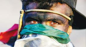 Un manifestant palestinien
