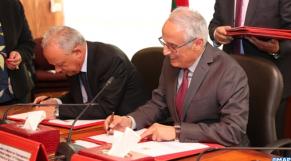 Abdelahad Fassi Fihri et Mohamed Mhidia