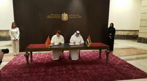Nasser Bourita et Cheikh Abdallah ben Zayed Al Nayhane.