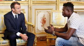 Macron-Mamoudou Gassama