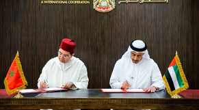 Nasser Bourita et Cheikh Abdallah ben Zayed Al Nahyane