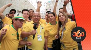 FANS BRÉSILIENS À moSCOU