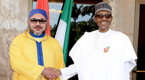 Le roi Mohammed VI et le président de la République fédérale du Nigeria, Muhammadu Buhari