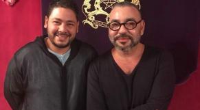 Le roi Mohammed VI et l'humoriste Oualas