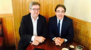 Abdelkrim Benatiq et Jean-Luc Mélenchon