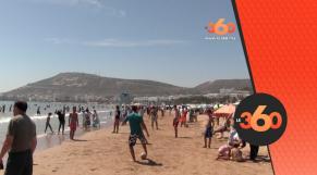 cover Video - Le360.ma • إقبال كبير للمغاربة والأجانب على شاطئ أكادير