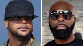 Les deux stars du Rap français, Booba (à gauche) et Kaaris