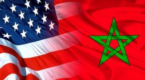 Drapeaux Maroc-USA