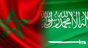 Drapeaux Maroc-Arabie saoudite