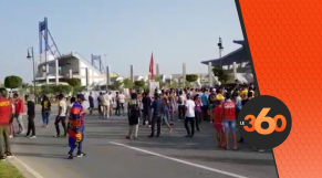 cover supporters arrivent à Tanger