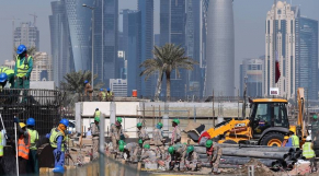 ouvriers Qatar 2022