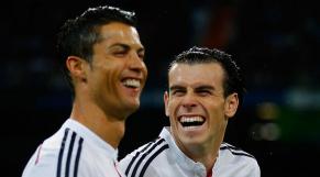 Bale et Ronaldo rires