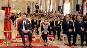 Lalla Khadija aux côtés du roi à la cérémonie sur la réforme de l'enseignement