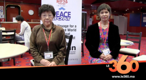 cover Video - Le360.ma •يلتقي ناجيتين من قنبلة هيروشيما على متن سفينة السلام بطنجة : Le360