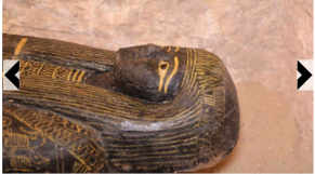 """Diapo. Des sarcophages qui accréditent la thèse de """"l'Egypte noire"""" de Cheikh Anta Diop"""