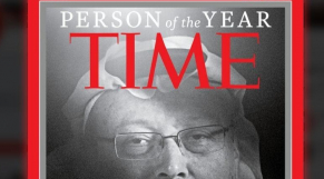 """Le journaliste saoudien Jamal Khashogi en une du magazine """"Time"""", le 11 décembre 2018."""