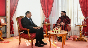 Le roi Mohammed VI et Ahmed Reda Chami