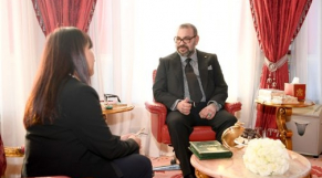 Le roi Mohammed VI et Amina Bouayach