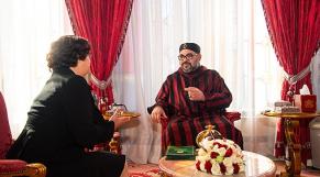 Le roi Mohammed VI et Latifa Akharbach