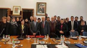 Le président du Club diplomatique marocain Taieb Chaoudri et le Directeur par intérim de la BNRM Abdelilah Tahani