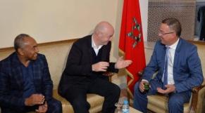 Ahmad, Infantino et Lekjaa à Marrakech