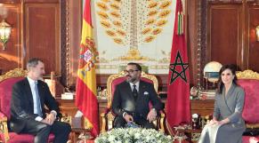 Le roi Mohammed VI avec le roi et la reine d'Espagne.