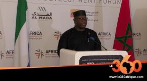 Forum Afrique développement: Maada Bio en VRP Sierra-Léonais à Casablanca