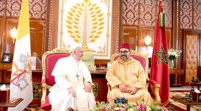 Le roi Mohammed VI et le Pape François-1