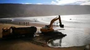 Pillage de sable plage imsouane Agadir cover