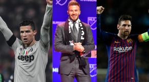 Beckham Ronaldo et Messi
