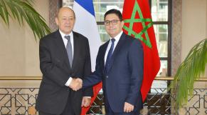 JY Le Drian et Bourita