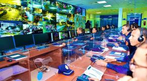 La salle de commandement et de coordination de la DGSN