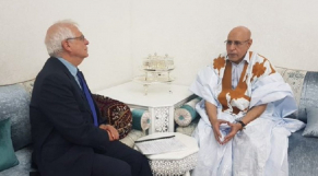 Mohamed ould Cheikh El Ghazouani et Josep Borrell