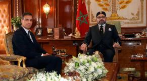 Le roi Mohammed VI et Pedro Sanchez