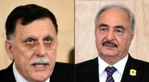 Fayez El-Serraj et Khalifa Haftar