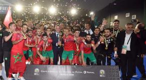 Maroc futsal champion d'Afrique