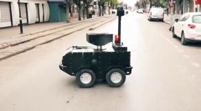 Vidéo. Coronavirus: en Tunisie, c'est un robot produit localement qui veille au respect du confinement