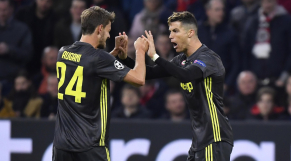Daniele Rugani et Cristiano Ronaldo